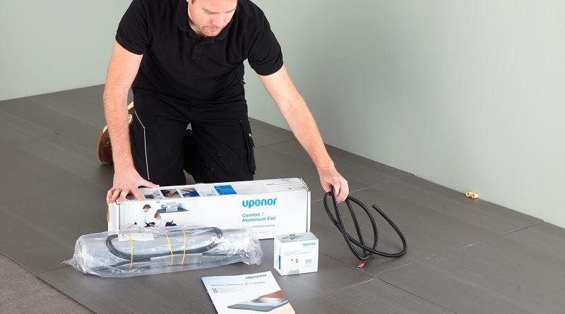 Stappenplan installatie Uponor comfort E-aluminiumfolie